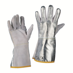 La Caja China Gloves, Aluminized Heavy Duty, Made in USA