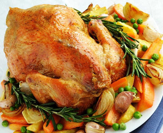 Turkey roast from La Caja China roaster.