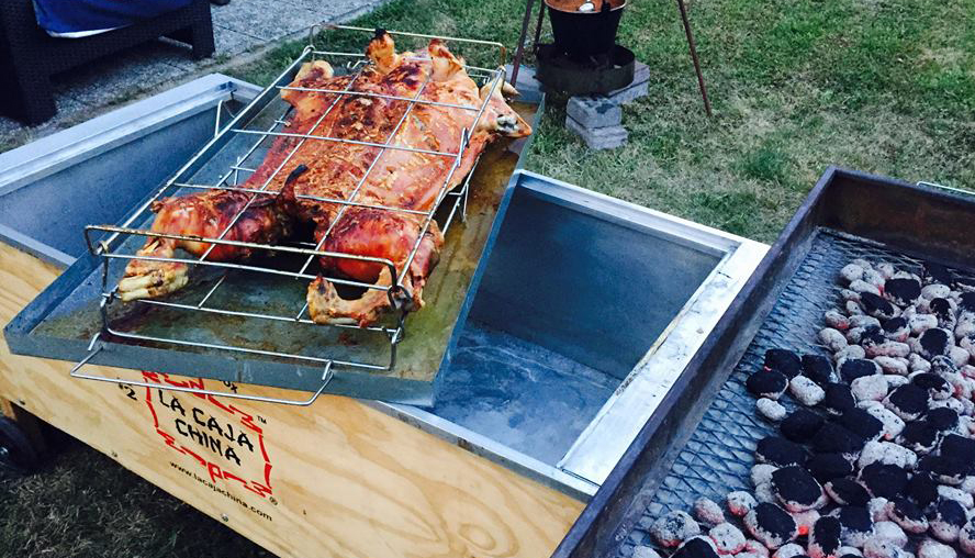 Whole pig roasted in 4 hours